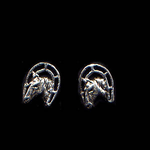Horseshoe Sterling Silver Post Earrings