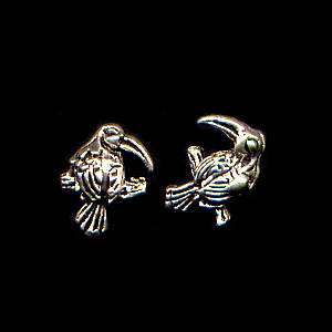 Parrot Sterling Silver Post Earrings