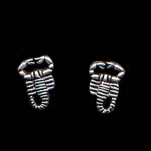 Scorpion Sterling Silver Post Earrings
