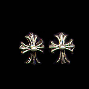 Spanish Cross Sterling Silver Post Earrings