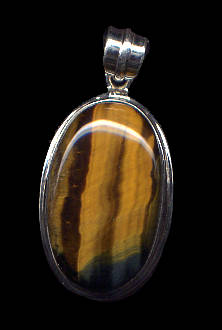 Tiger Eye Pendant set in Sterling Silver
