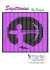 Free Zodiac Sagittarius Bead Beading Pattern Graph
