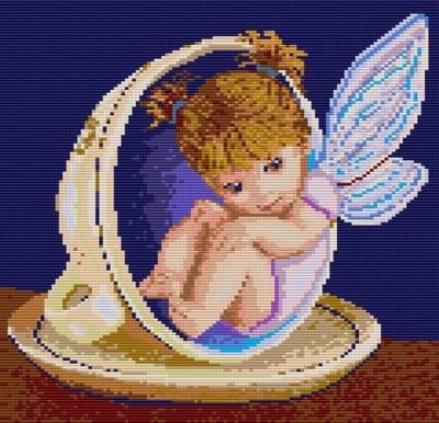 Baby Fairy Cup Bead Graph