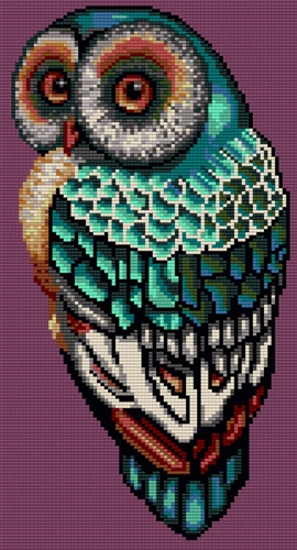 Easter Owl Bead Graph