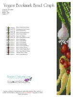 Veggies Bookmark Bead Graph
