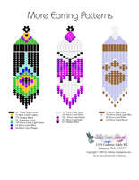 More Fringe Earrings Bead Graph