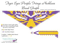 Tiger Eyes Purple Fringe Bead Graph