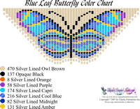 Dainty Blue Leaf Butterfly Bead Graph