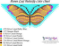 Dainty Brown Leaf Butterfly Bead Graph