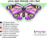 Dainty Green Apple Butterfly Bead Graph