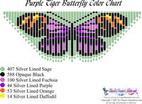 Dainty Purple Tiger Butterfly Bead Graph