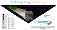 Easter Lily Fringe Bead Graph