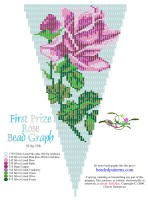 First Prize Rose Fringe Bead Graph