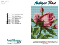 Antique Rose Bead Graph