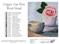Coffee Cup Rose Bead Graph