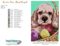 Easter Pup Bead Graph