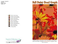 Fall Daisy Bead Graph