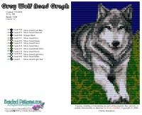 Grey Wolf Bead Graph