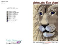 Golden Lion Bead Graph