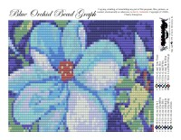 Blue Orchid Bead Graph