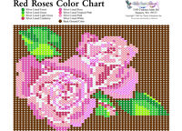 Red Roses Bead Graph