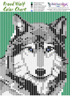 Proud Wolf Bead Graph