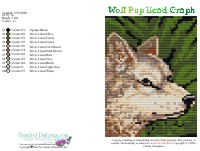 Wolf Pup Bead Graph