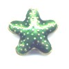 Green Star Cloisonné bead 16x16mm