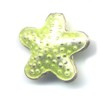 Light Pea Star Cloisonné bead 16x16mm