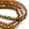 100 3mm Dark Amber Sparkle