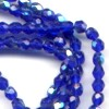 100 3mm Cobalt Blue Sparkle