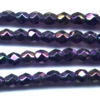 50 4mm Irry Purple Faceted