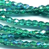 50 4mm Aqua Sparkle Faceted