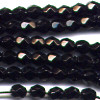 50 4mm Black Faceted