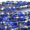 50 4mm Blue Sparkle Faceted