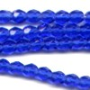 50 4mm Cobalt Faceted