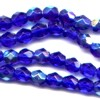 50 4mm Cobalt Sparkle Faceted