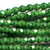 50 4mm Cut Green Faceted