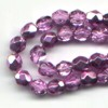 50 4mm Fuchsia Metallic Sparkle Faceted