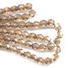 50 4mm Gold Maple Sparkle Faceted