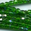 50 4mm Green Sparkle Faceted