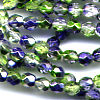 50 4mm Green Blue Sparkle Faceted