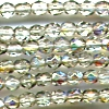 50 4mm Light Sage Sparkle Faceted