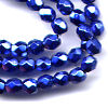 50 4mm Metallic Blue Faceted