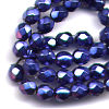 50 4mm Metallic Dark Blue Faceted