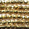 50 4mm Metallic Gold Faceted