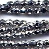 50 4mm Metallic Silver Faceted