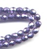 50 4mm Metalic Pale Purple Sparkle Faceted