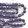 50 4mm Metalic Purple Faceted