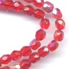 50 4mm Red Sparkle Faceted